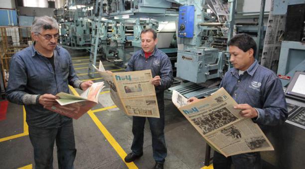 Foto: Rotativa en Diario Hoy. Cortesía Diario El Comercio